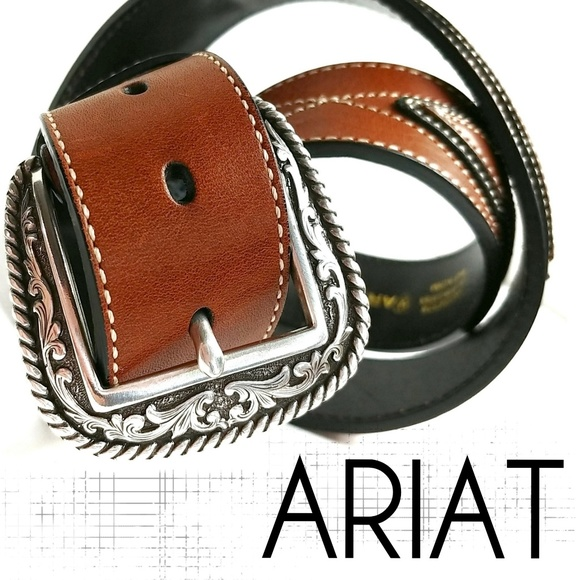 Ariat Other - Ariat Full Grain Leather Belt With Grip Strip 36